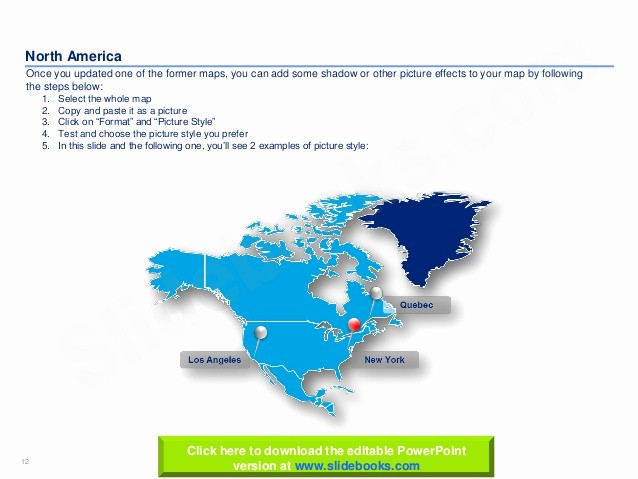 Editable Maps Of north America Awesome Editable north America Maps In Powerpoint