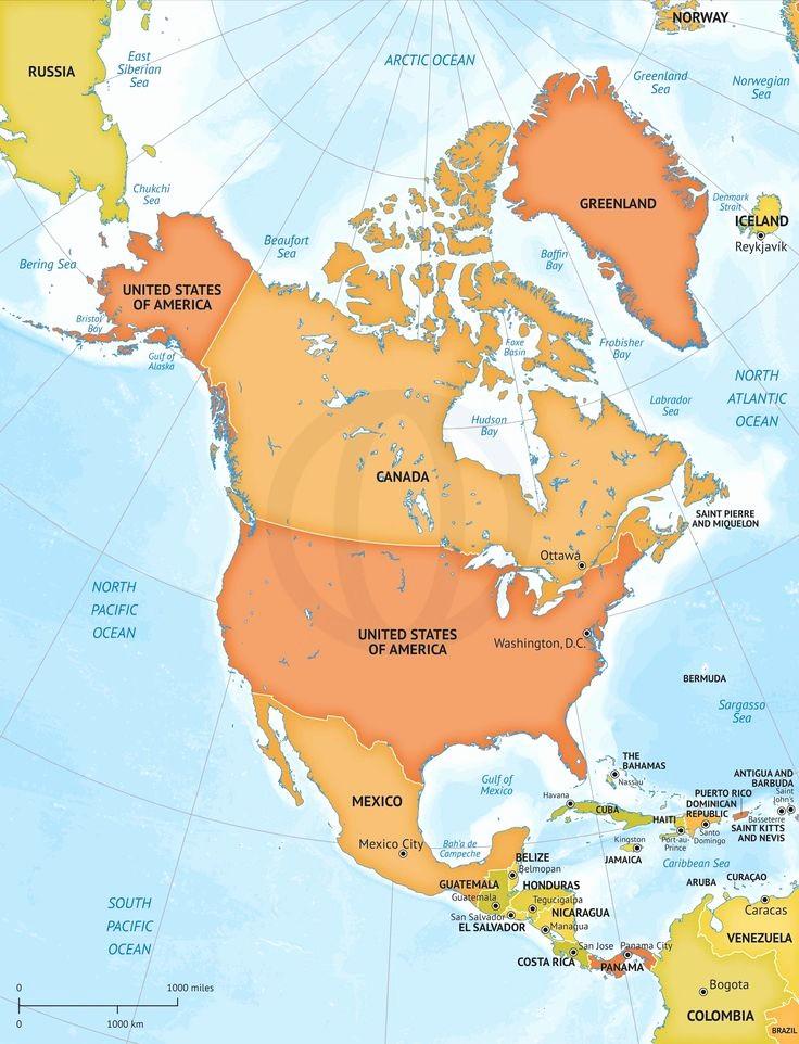 Editable Maps Of north America Beautiful 39 Best Maps Of north America Continent Regions