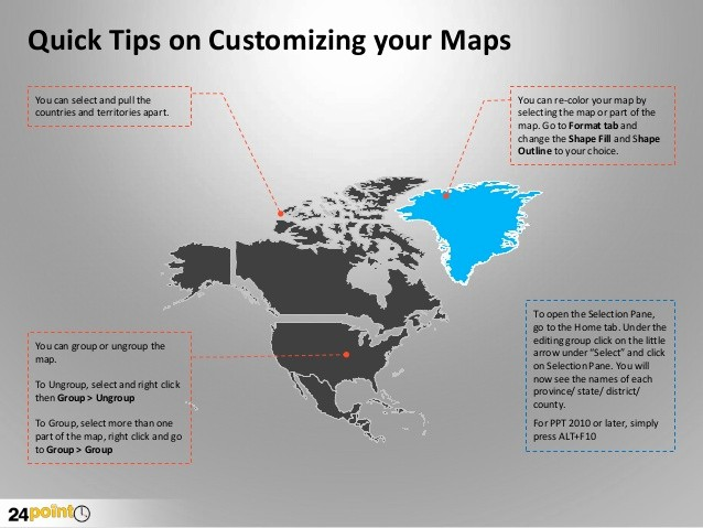 Editable Maps Of north America Fresh Map Of north America Editable Powerpoint Presentation