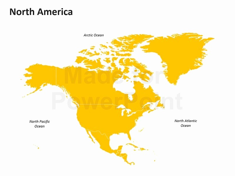 Editable Maps Of north America Fresh north America Map Editable Powerpoint Slides