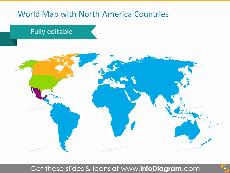 Editable Maps Of north America Inspirational Editable Maps Icons Usa Canada Mexico north America