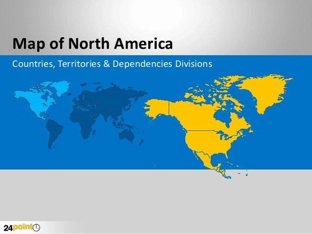 Editable Maps Of north America Luxury Map Of north America Editable Powerpoint Presentation