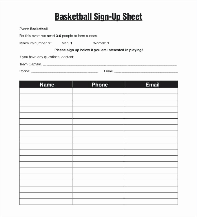 Editable Sign In Sheet Template Unique Editable Printable Sign Up Sheet Template Free