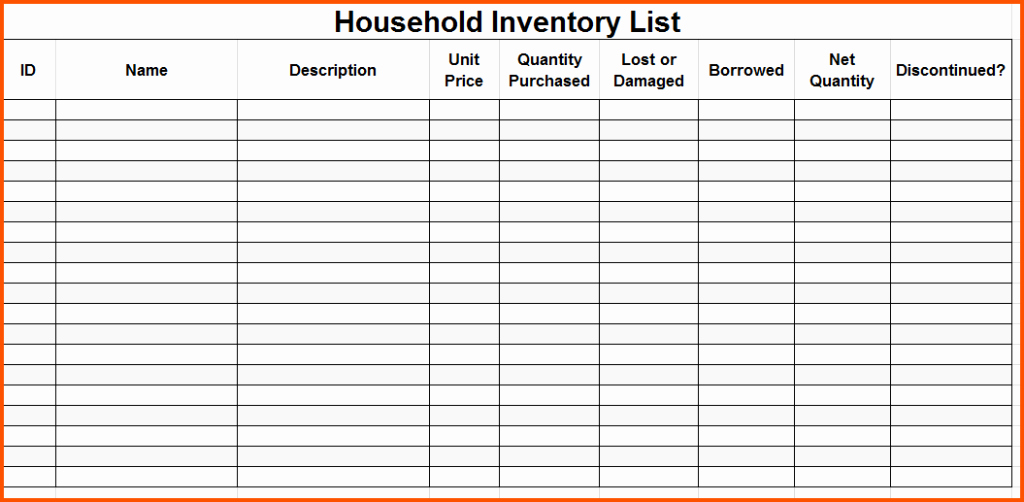 Editable to Do List Template Beautiful Editable Inventory Checklist Template to Help You Moving