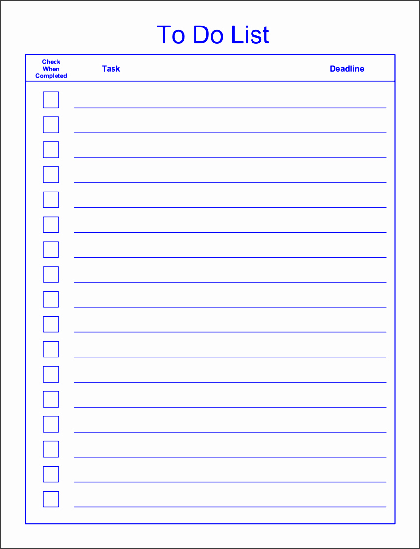 Editable to Do List Template Fresh 6 Editable to Do List Template Sampletemplatess