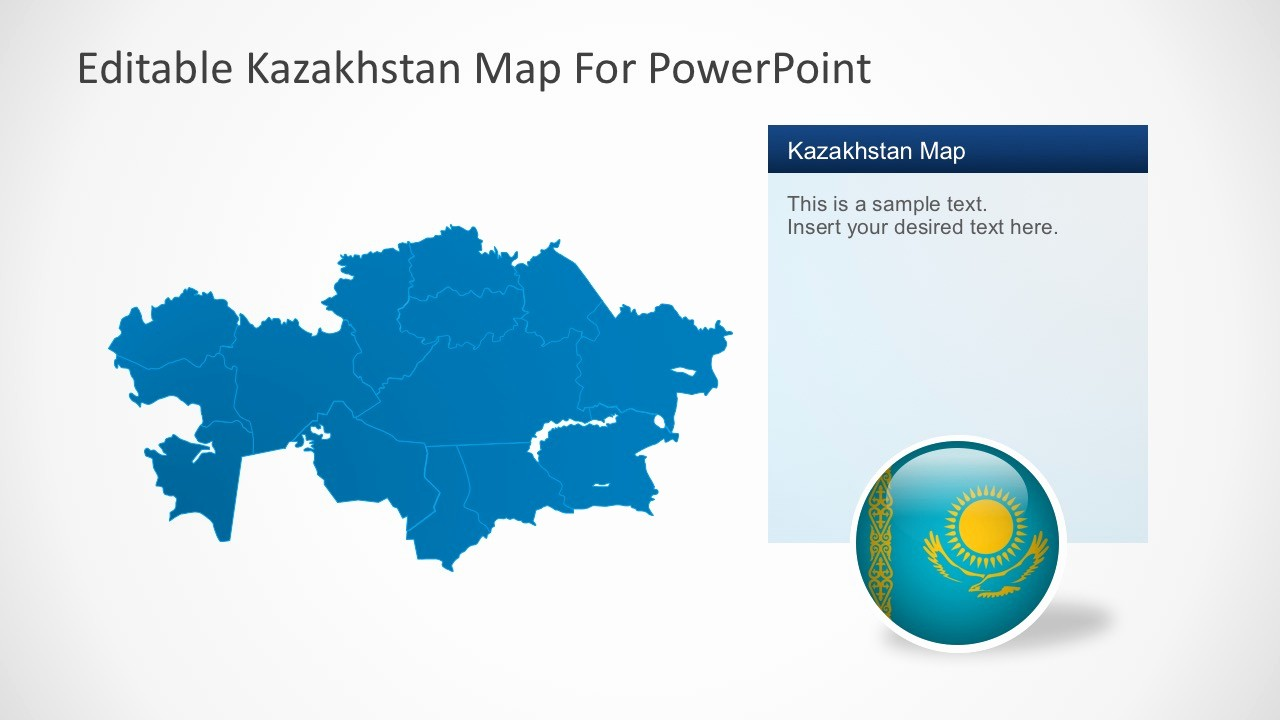 Editable Us Map for Ppt Awesome Editable Kazakhstan Powerpoint Map