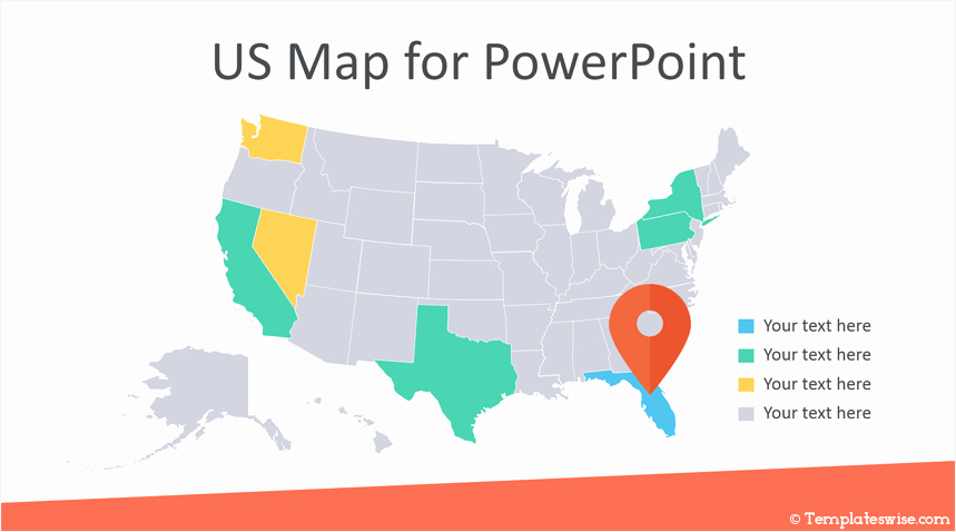 Editable Us Map for Ppt Beautiful Editable Us Map for Powerpoint Templateswise