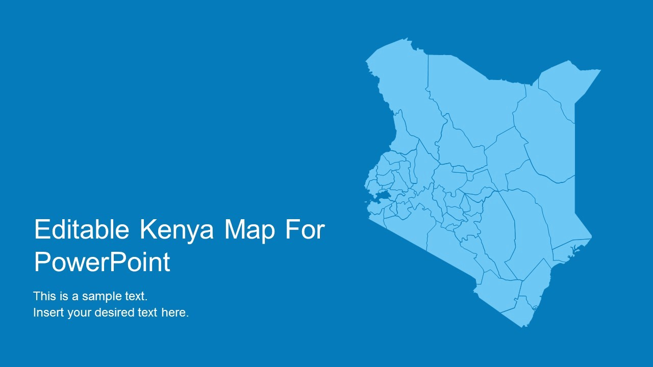 Editable Us Map for Ppt Elegant Editable Kenya Powerpoint Map