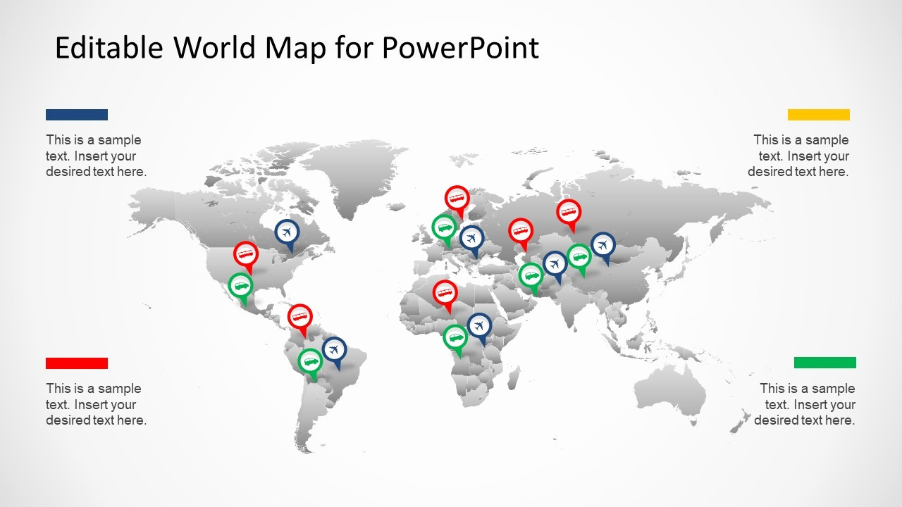Editable Us Map for Ppt Fresh Editable Worldmap for Powerpoint Slidemodel