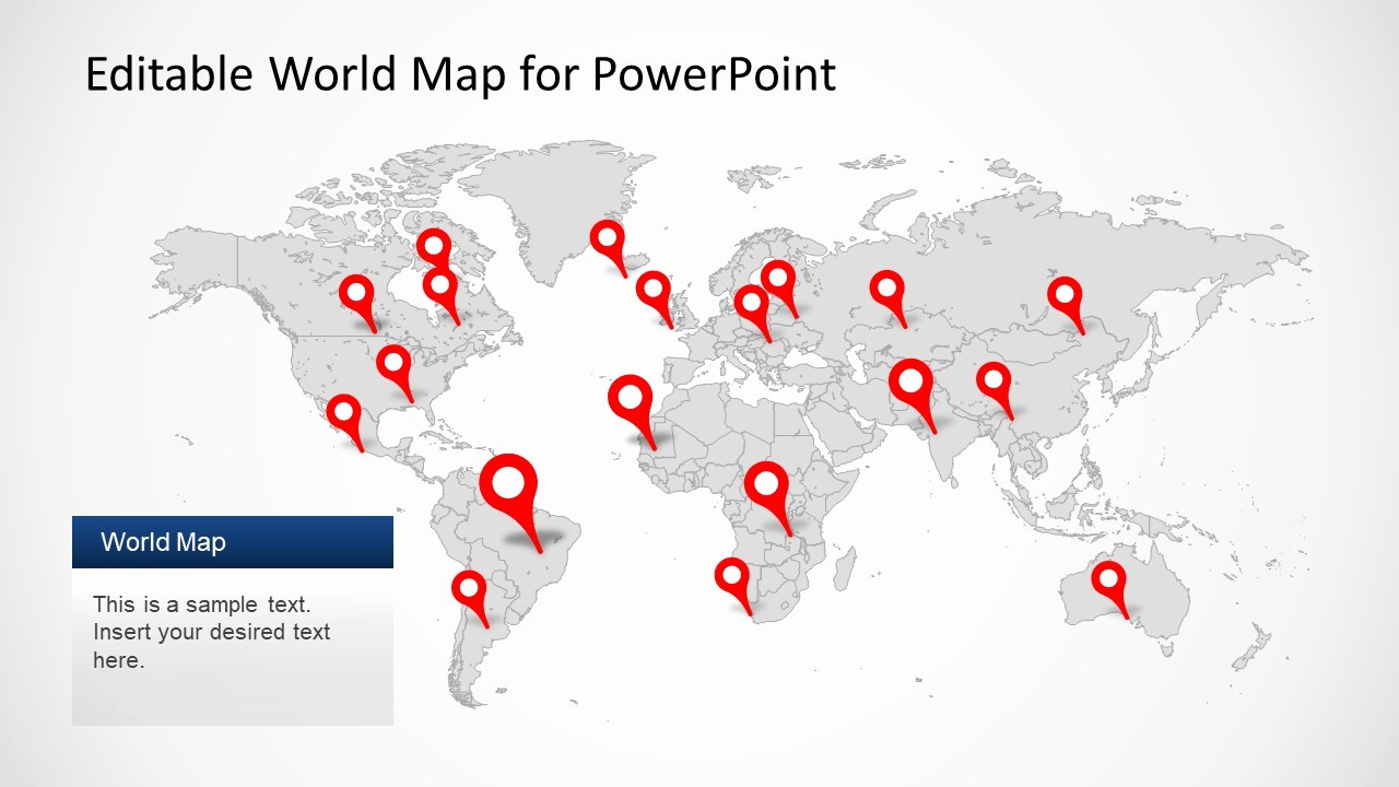 Editable Us Map for Ppt Lovely Editable Worldmap for Powerpoint Slidemodel