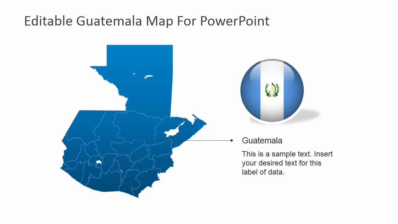 Editable Us Map for Ppt Unique Editable Guatemala Powerpoint Map Slidemodel