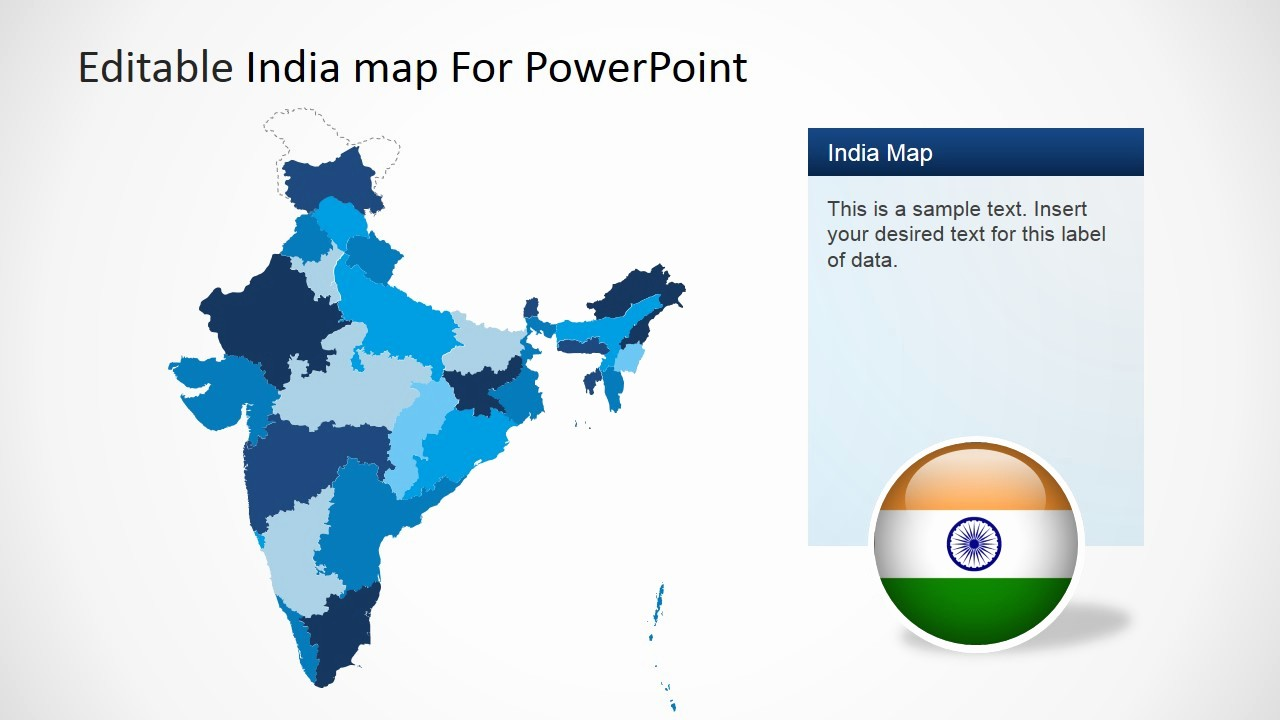 Editable Us Map for Ppt Unique Editable India Map Template for Powerpoint Slidemodel