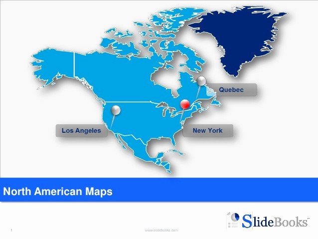 Editable Us Map for Ppt Unique Editable north America Maps In Powerpoint