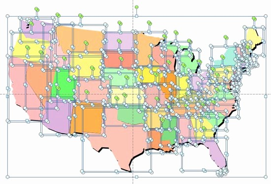 Editable Us State Map Powerpoint Best Of Ungrouping Maps In Powerpoint 2007 and 2010 for Windows