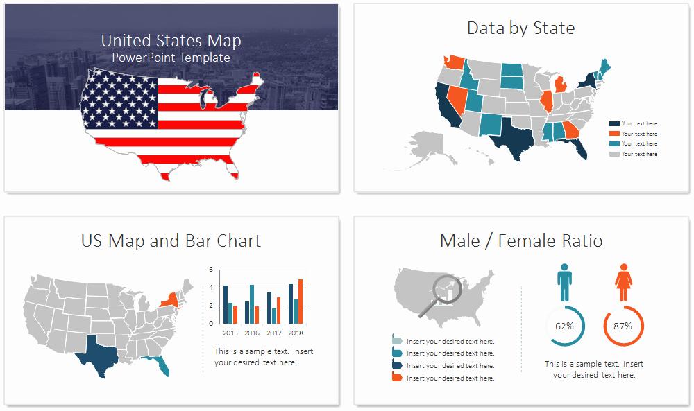 Editable Us State Map Powerpoint Elegant Us Map Powerpoint Template Presentationdeck