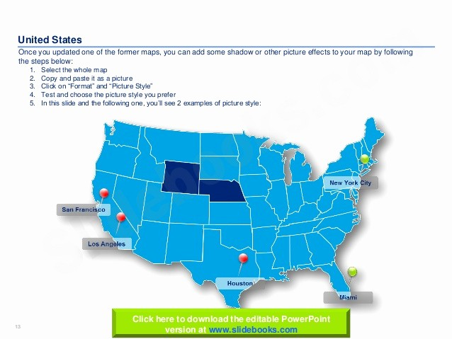 Editable Us State Map Powerpoint Fresh United States Maps and Flags In Powerpoint