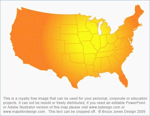 Editable Us State Map Powerpoint Luxury Free Editable Us Map for ...