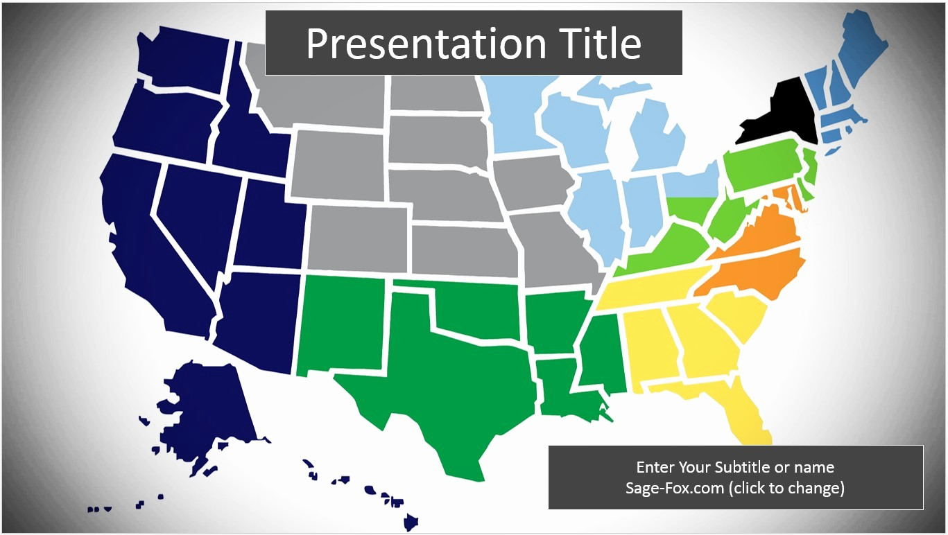 Editable Us State Map Powerpoint Unique Free United States Map Powerpoint Template 6323
