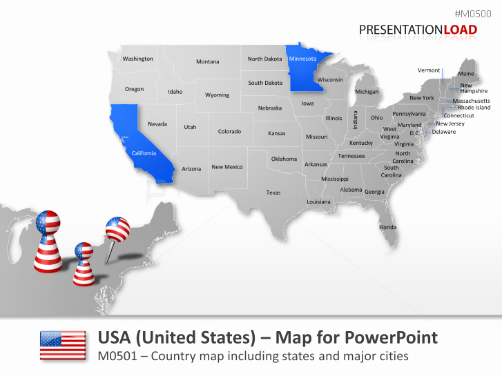 Editable Us State Map Powerpoint Unique Powerpoint Map United States Usa