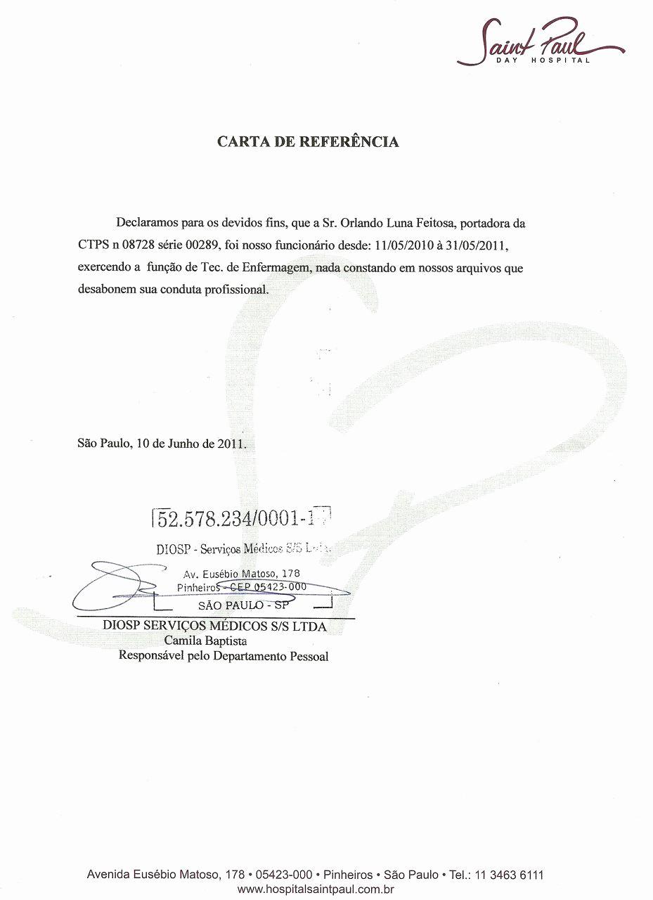 Ejemplo De Carta De Referencia Best Of Ejemplo De Modelo De Carta De Referencia