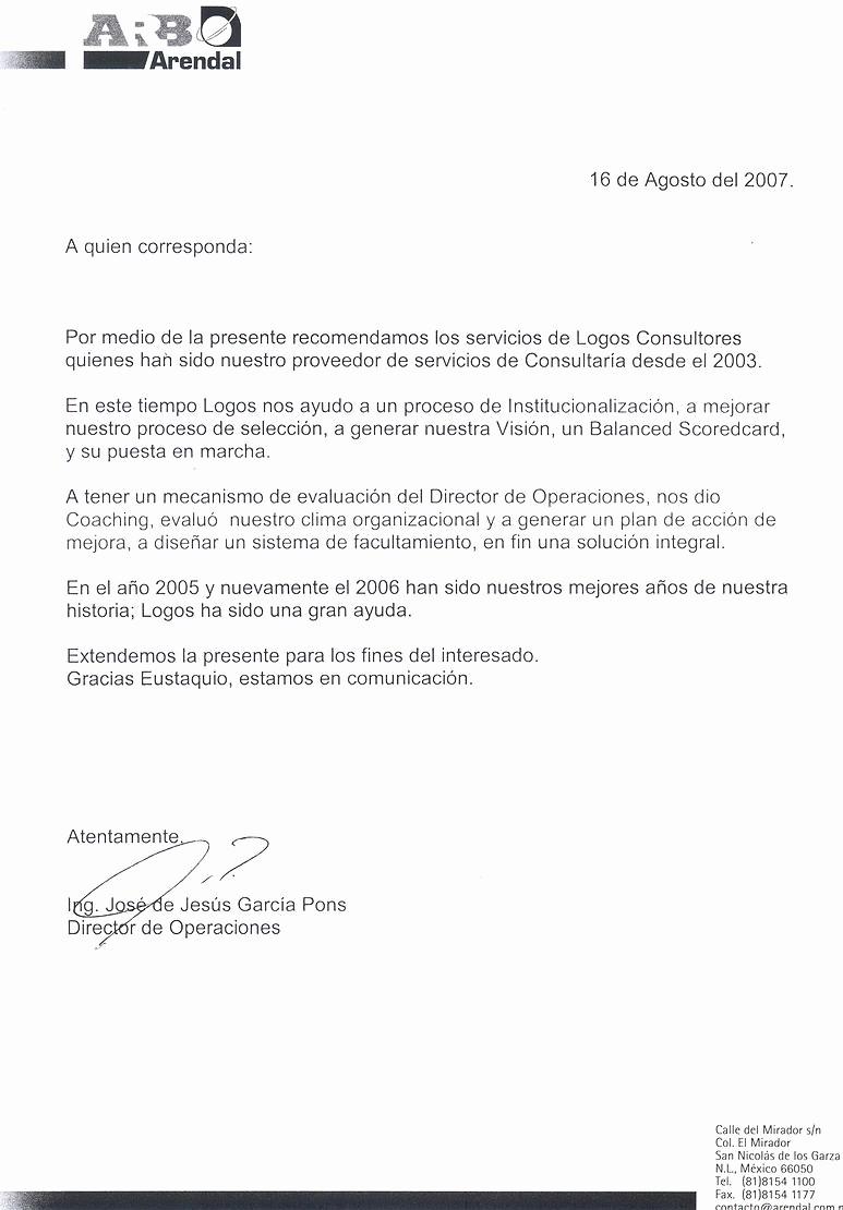 Ejemplo De Carta De Referencia Best Of Resultado De Imagen Para Carta De Re Endacion Cartas