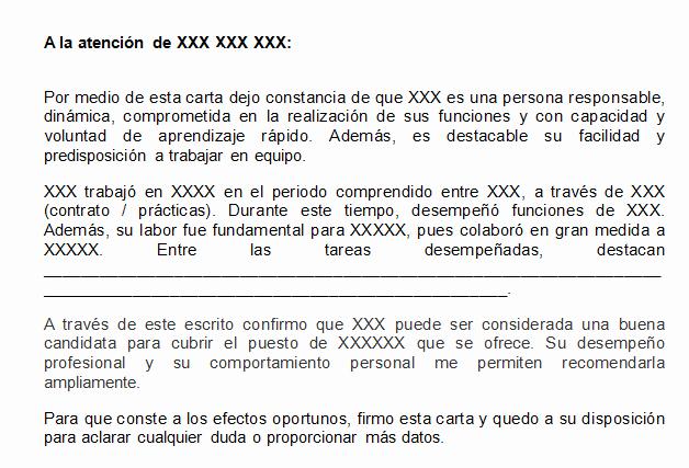 Ejemplo De Carta De Referencia Elegant formato Referencia Personal Ejemplos De Referencias