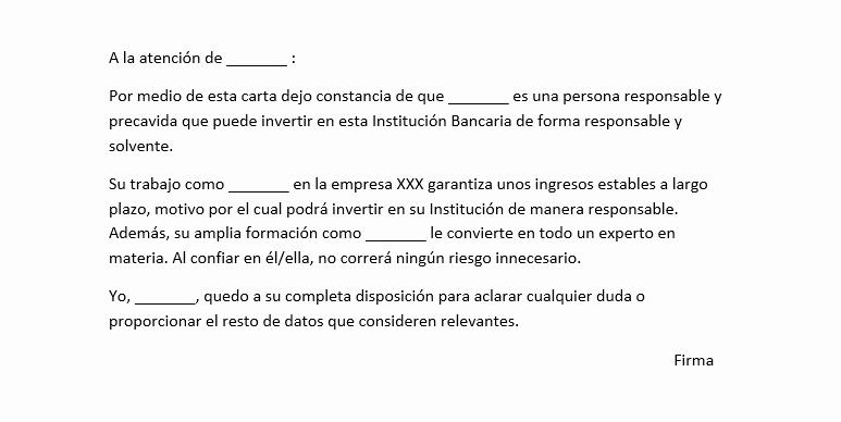 Ejemplo De Carta De Referencia Elegant Modelo De Referencia Personal Para Banco