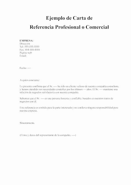 Ejemplo De Carta De Referencias Inspirational Ejemplo De Carta De Referencia Personal