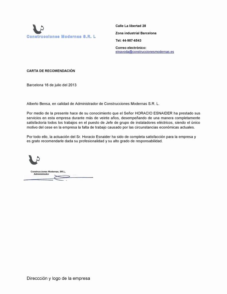 Ejemplo De Carta De Referencias Unique Carta De Re Endacion Personal to Pin On