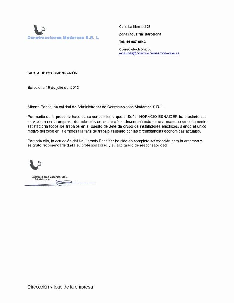 Ejemplo De Cartas De Recomendacion Elegant Ejemplo De Carta De Re Endación Personalizada Ejemplos De
