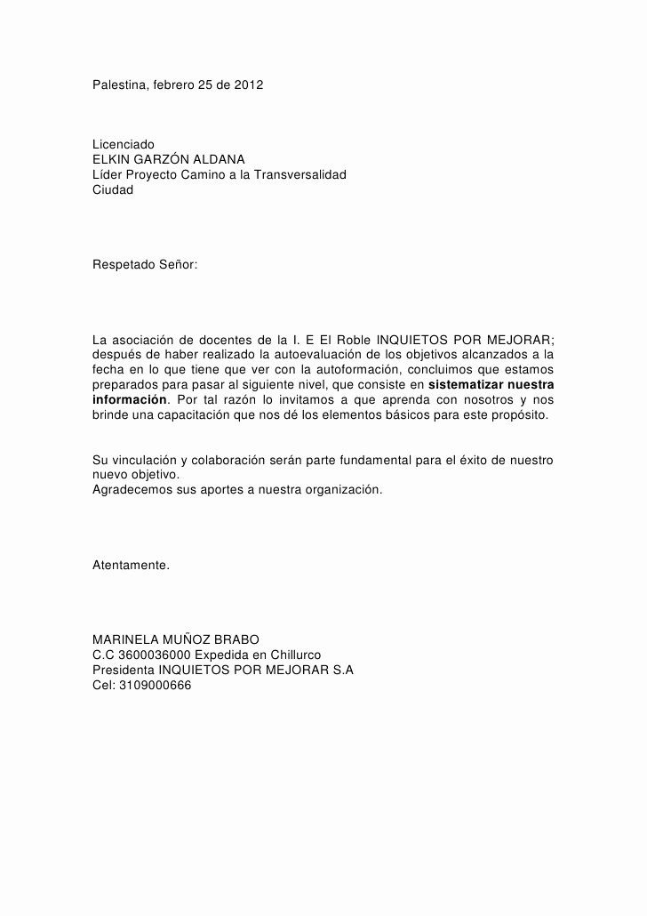 Ejemplo De Cartas De Recomendacion Fresh Ejemplo Carta