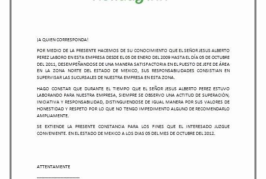 Ejemplo De Cartas De Recomendacion Unique Cartas De Re Endacion