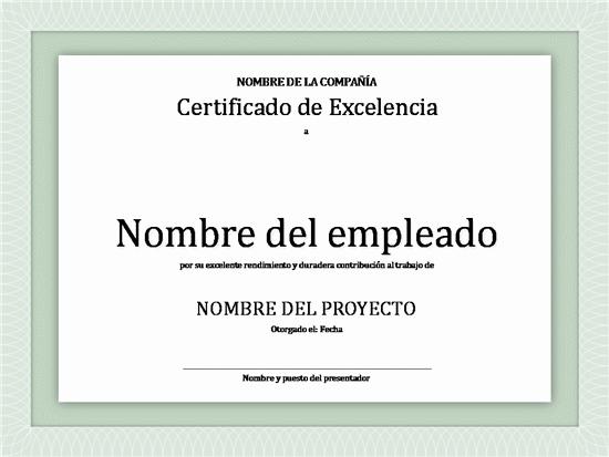 Ejemplo De Certificado De Reconocimiento Best Of Diplomas De Reconocimiento En Excel