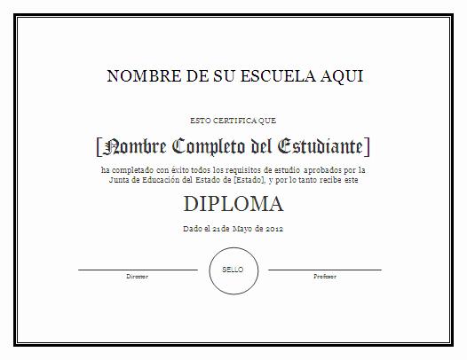 Ejemplo De Certificado De Reconocimiento Elegant Ejemplos De Diplomas Imagui