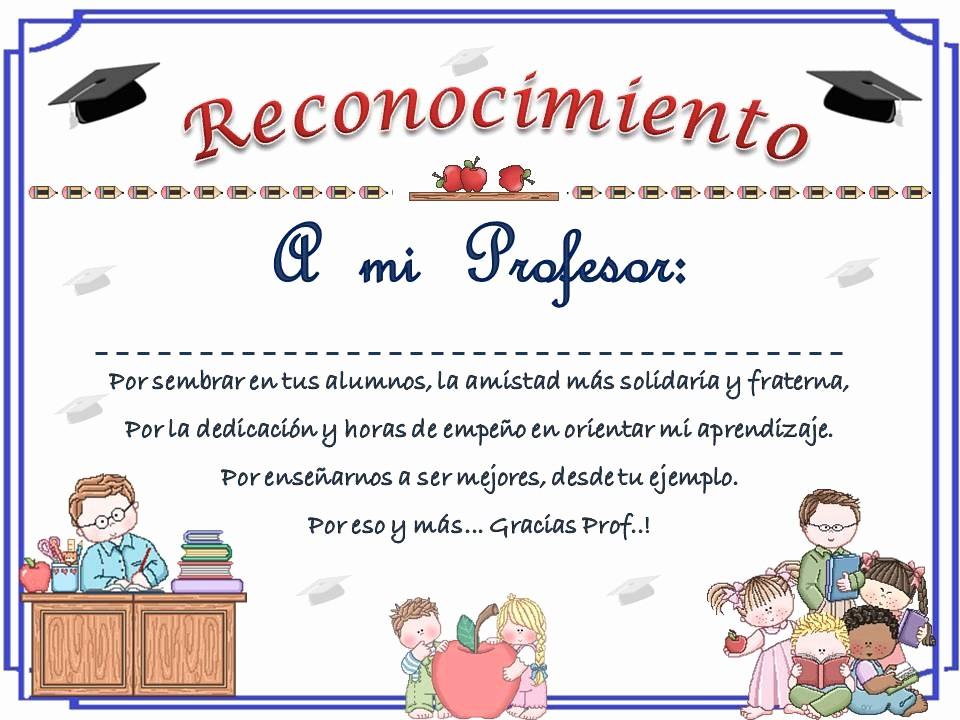 Ejemplo De Certificado De Reconocimiento Elegant Planeta Escolar Diplomas Y Reconocimientos Para Maestros
