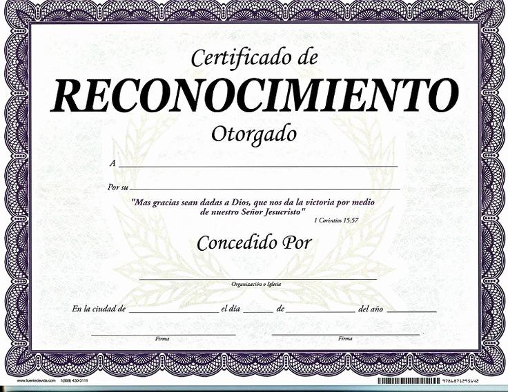 Ejemplo De Certificado De Reconocimiento New Más De 25 Ideas Increbles sobre Diplomas De