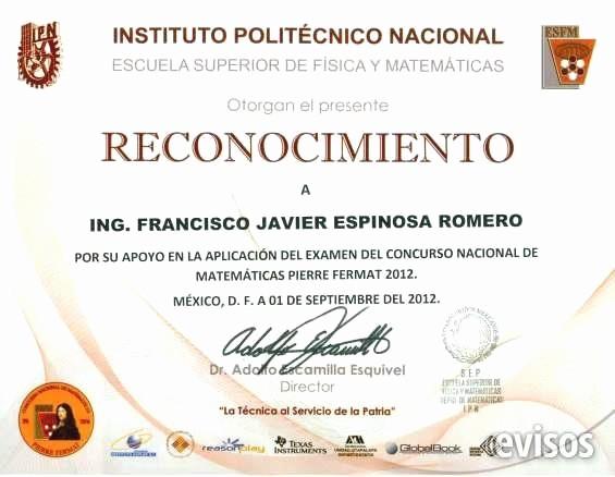 Ejemplo De Certificado De Reconocimiento Unique Pin De Evisos Mexico Anuncios Clasificados Gratis En