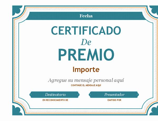 Ejemplo De Certificados De Reconocimiento Awesome Vale De Regalo O Reconocimiento