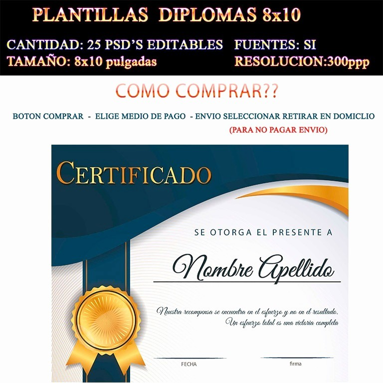 Ejemplo De Certificados De Reconocimiento Beautiful Plantillas Diplomas Reconocimiento Psd 25 Editables