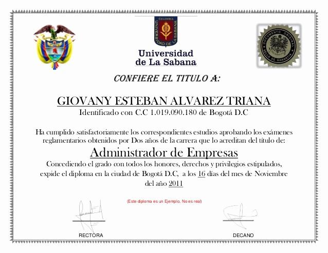 Ejemplo De Certificados De Reconocimiento Inspirational Ejemplo De Diploma