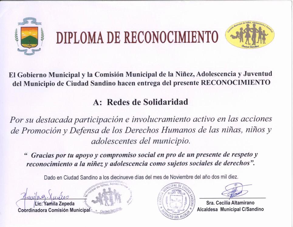 Ejemplo De Certificados De Reconocimiento New Noviembre 2010