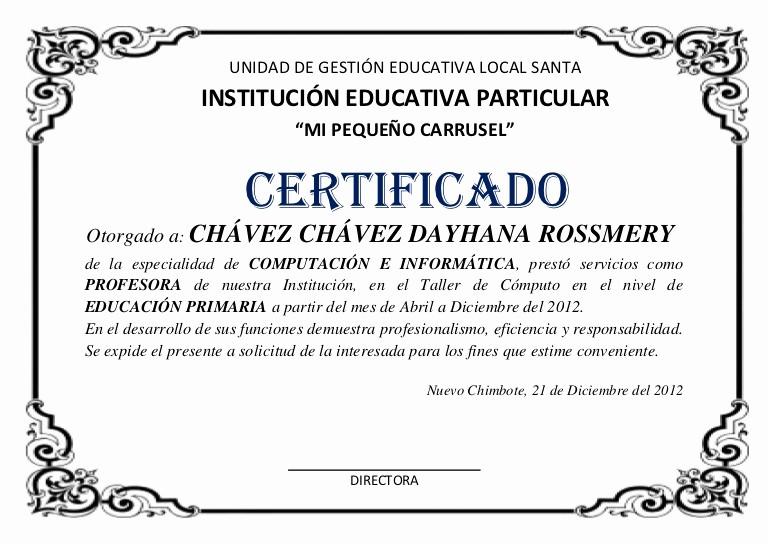 Ejemplo De Certificados De Reconocimiento Unique Modelo De Certificado