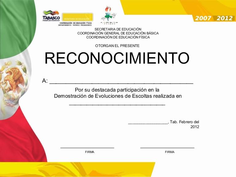 Ejemplo De Certificados De Reconocimiento Unique Reconocimiento Escoltas