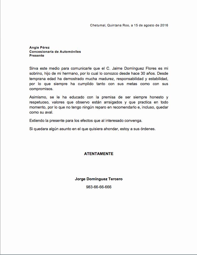 Ejemplos De Carta De Recomendacion Elegant Ejemplo Carta De Trabajo Related Keywords Ejemplo Carta