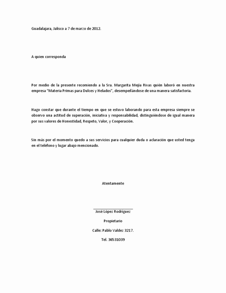 Ejemplos De Carta De Recomendacion Lovely Imágenes De Carta De Re Endación Laboral