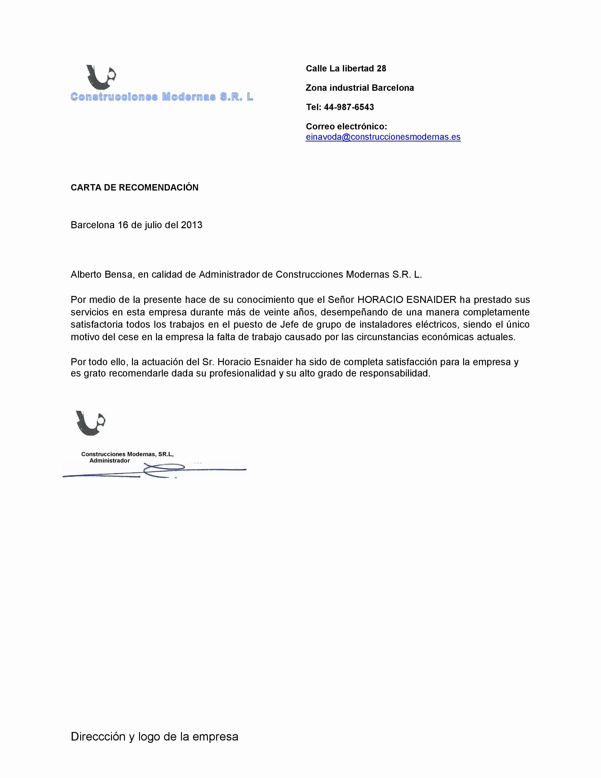 Ejemplos De Carta De Referencia Inspirational Ejemplo De Plantilla De Carta De Re Endación