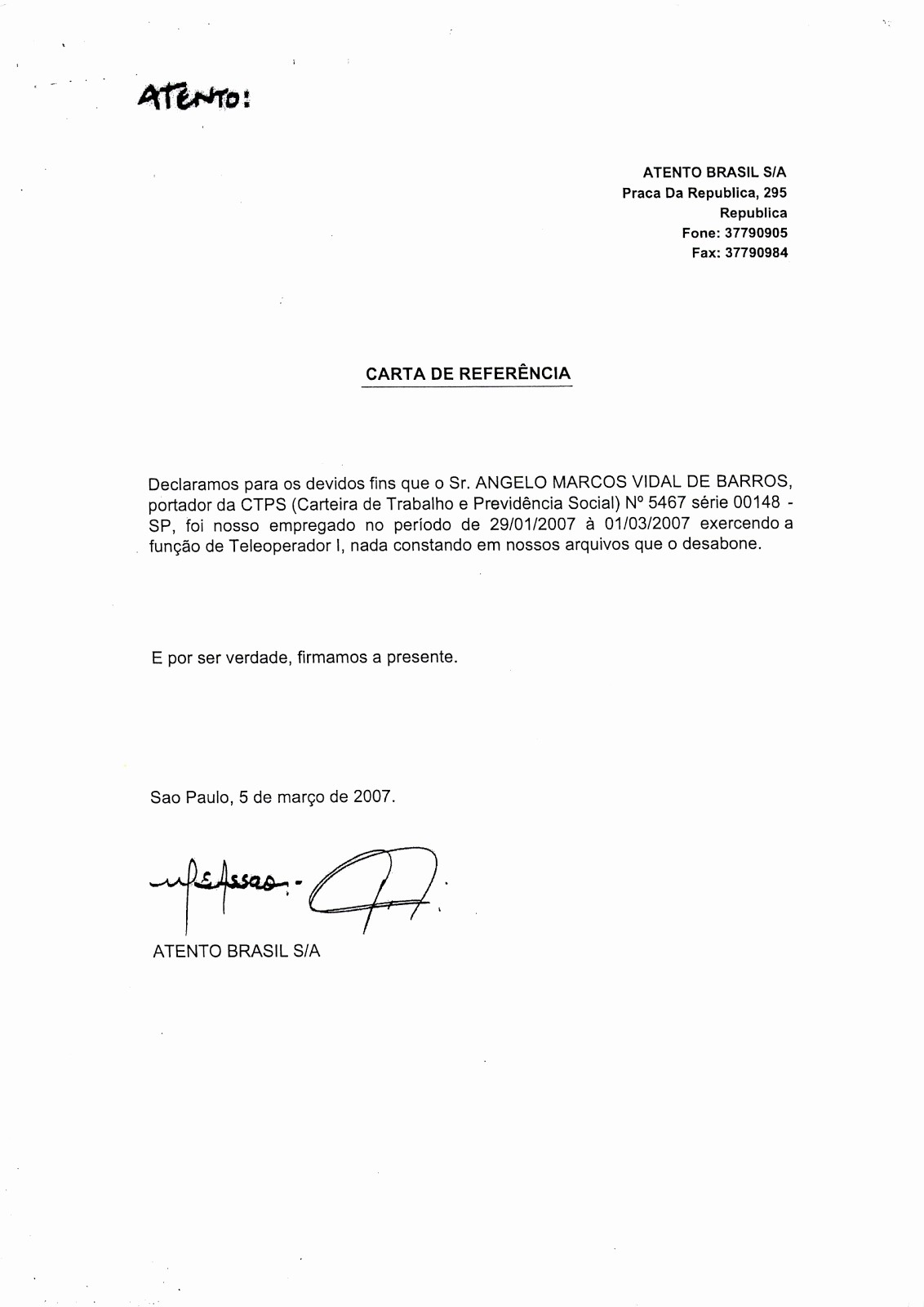 Ejemplos De Carta De Referencia Lovely Carta De Re Endacion Para Inmigracion