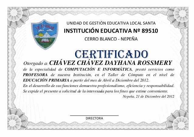 Ejemplos De Certificados De Reconocimiento Awesome Modelo De Certificado