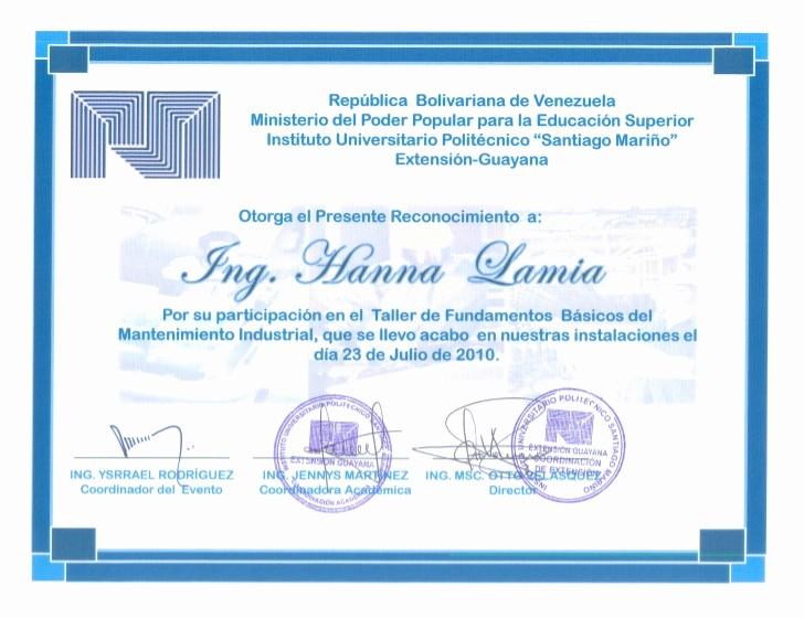 Ejemplos De Certificados De Reconocimiento Best Of Certificados Y Constancia Trabajo Iupsm E Inestepetroleo