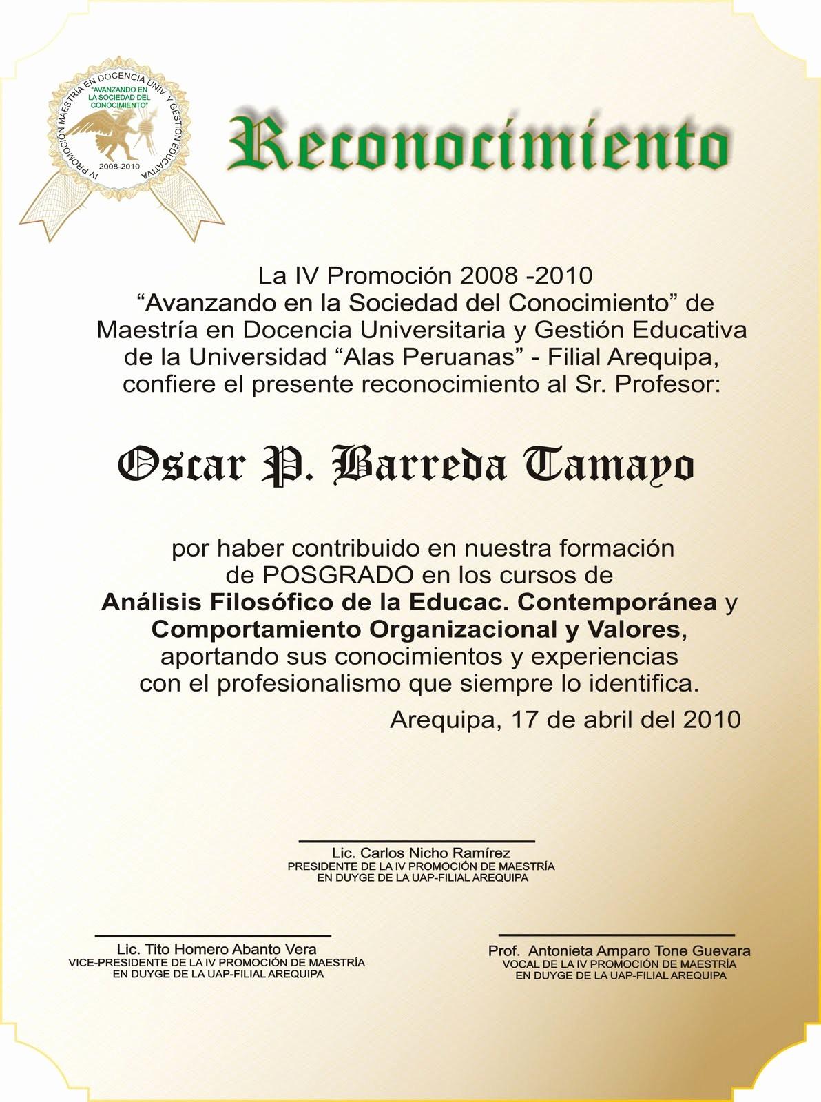 Ejemplos De Certificados De Reconocimiento Lovely Blog De Karlitos Modelo Placa De Recordatorios